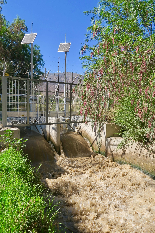 FlumeGate Regulating Structure Managing Flow in Chile
