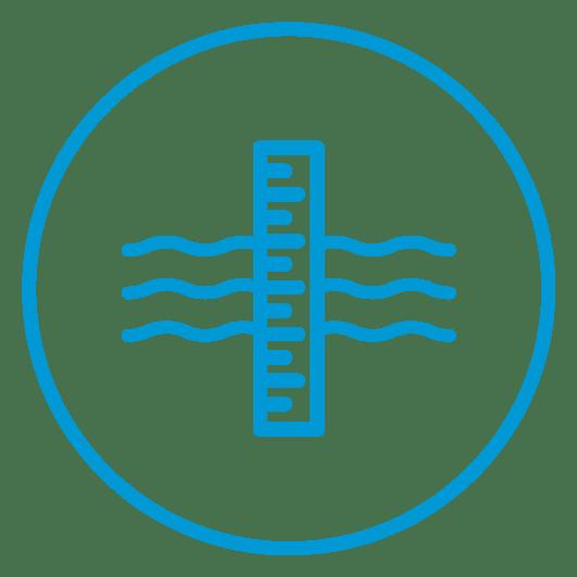 Water level measurement icon
