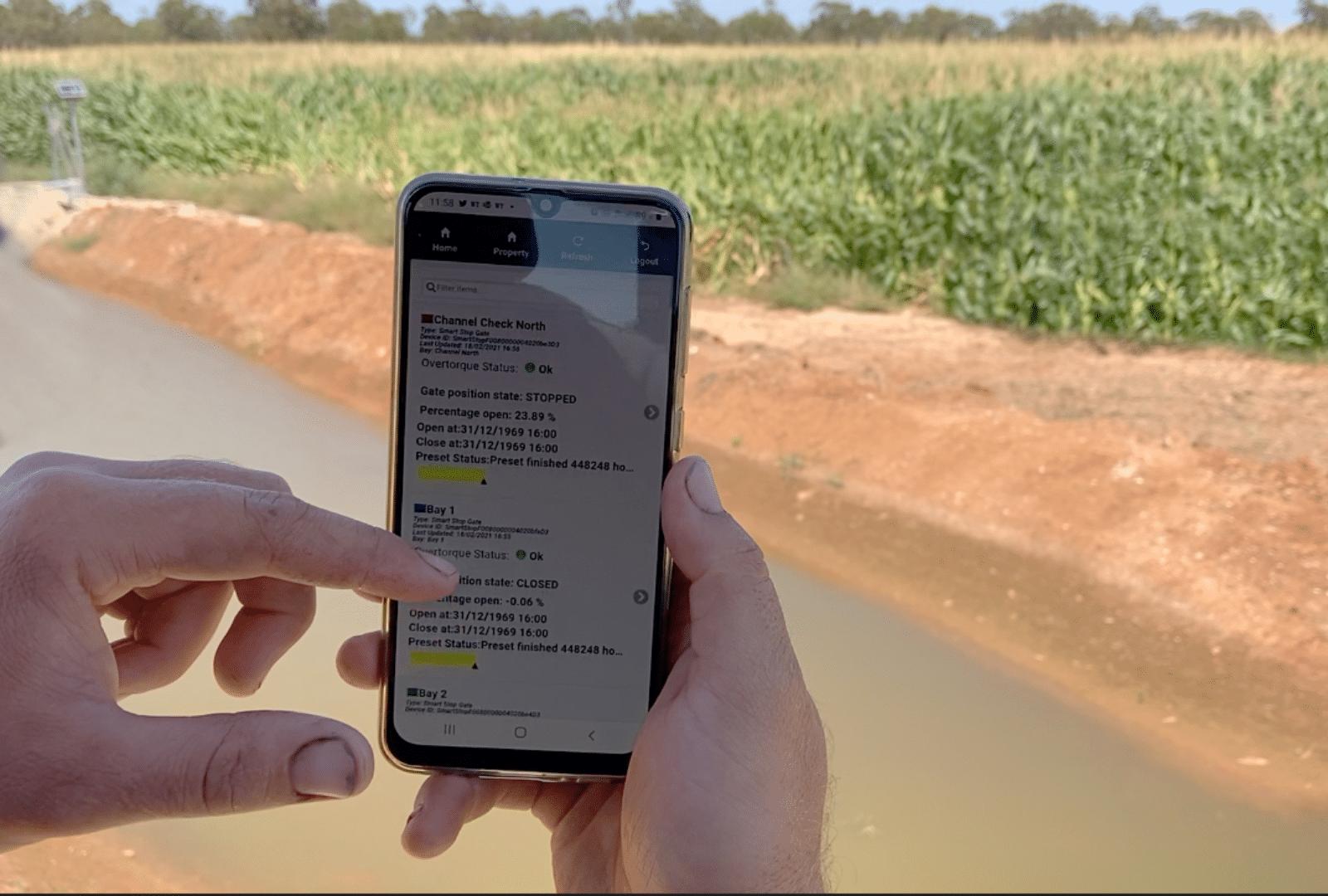 Farmer Using Water Ordering Software